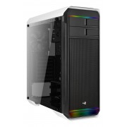 Aerocool Aero 500G RGB Case Middle Tower White- Tempered Glass Window