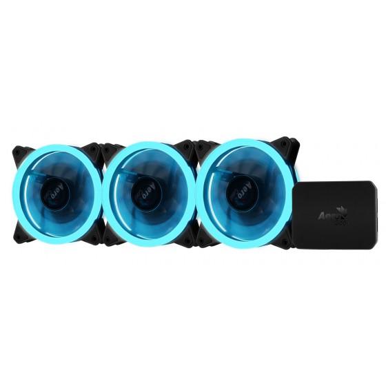 Aerocool Rev RGB Pro, ventole 120mm LED RGB - 3Pz