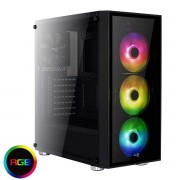 Aerocool Quartz RGB Case Middle Tower Full Tempered Glass Panel