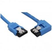 InLine Cavo SATA 7pin L-Form a SATA 7pin L-Form, Max 6Gb/s, rotondo, chiusura a scatto, connettore 90 gradi destra, blu, 0,3m