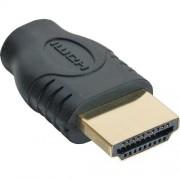 InLine Adattatore HDMI 19pin Type-A maschio a HDMI Micro Type-D femmina, pin dorati