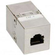 InLine Accoppiatore cavi Lan Cat.6 da RJ45 femmina a RJ45 femmina, schermato (STP), Involucro in metallo