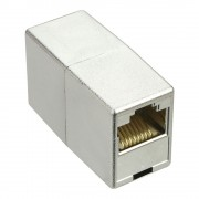 InLine Accoppiatore cavi Lan Cat.5e da RJ45 femmina a RJ45 femmina, schermato (STP), Involucro in plastica metallizzata