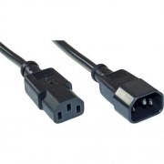 InLine Cavo prolunga alimentazione elettrica presa VDE C13 a spina VDE C14, nera, 1,5m
