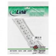 InLine Multipresa elettrica, 6x presa Schu.ko con sicurezza bambini, plastica bianca, cavo 1,5m, spina CEE 77