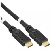 InLine Cavo HDMI High Speed with Ethernet, Attivi-Amplificati, FullHD 1080p, UHD 2.160p, Type-A maschio/ Type-A maschio, pin dor