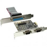 InLine Scheda seriale e parallela aggiuntiva, I0-Controller, PCIe ( PCI-Express ), 2x Sud-D 9pin maschio, 1x Sud-D 25pin femmina