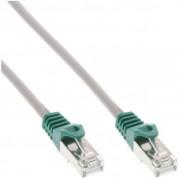 InLine Cavo Patch LAN Crossover, SF/UTP, Cat.5e, guaina PVC, CU (100% rame), grigio, 15m