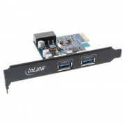 InLine Scheda USB 3.0 host controller, 2 porte, black edition, Staffa Low profile Inclusa