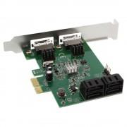 InLine Scheda controller SATA 6Gb/s, 4x SATA (2x eSATA), PCI-Express 2.0
