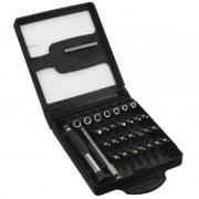 InLine Cacciaviti di precisione per micro elettronica, telefonia, oculistica con 28 punte intercambiabili