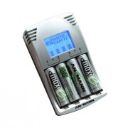 Ansmann PhotoCam IV Carica Batterie a 4 alloggi e Display LCD. Per Ministilo, Stilo, Include 4x da 2500mAh (AA)