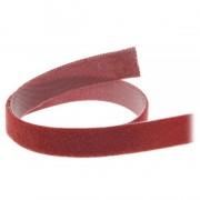 InLine Banda in velcro tagliabile a misura, rotolo da 10m, larghezza 16mm, rosso