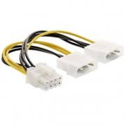 InLine Cavo alimentazione interno, 2x 4poli a 8poli, per schede grafiche PCIe (PCI-Express), 0,15m