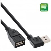 InLine Smart USB 2.0 prolunga Type A maschio angolato a Type A femmina, nero, 0,2m