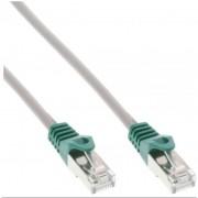 InLine Cavo Patch LAN Crossover, SF/UTP, Cat.5e, guaina PVC, CU (100% rame), grigio, 3m
