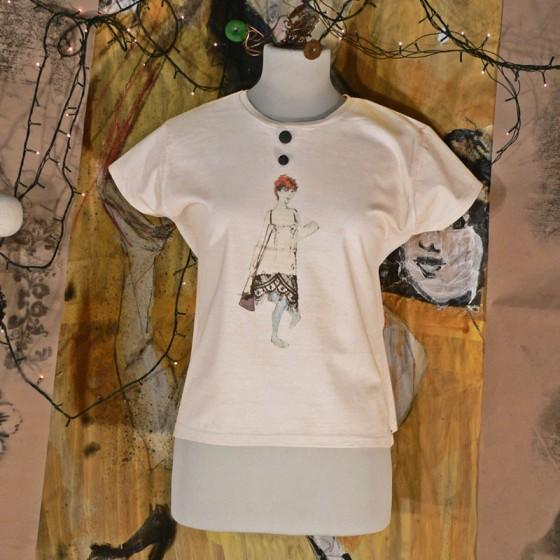 Agnese t shirt dipinta a mano lace vendita online for Ufficio sinistri t shirt