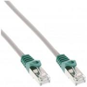 InLine Cavo Patch LAN Crossover, F/UTP, Cat.5e, guaina PVC, CU (100% rame), grigio, 5m
