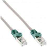 InLine Cavo Patch LAN Crossover, SF/UTP, Cat.5e, guaina PVC, CU (100% rame), grigio, 0,3m