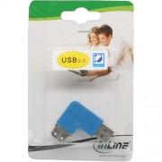 InLine Adattatore USB 3.0 Type-A maschio a USB 3.0 Type-A femmina a 90 gradi a sinistra