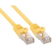 InLine Cavo Patch per rete dati Lan Cat.5e, 2x RJ45, schermatura FUTP, colore giallo, 1,5m