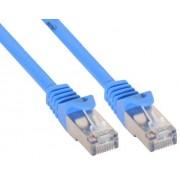 InLine Cavo Patch per rete dati Lan Cat.5e, 2x RJ45, schermatura FUTP, colore blu, 5m