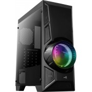 Aerocool Aeroengine RGB-G-BK-V2 Tempered Glass Case Middle Tower Black
