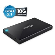 "Fantec ALU-25B31 Box 2.5"" USB 3.1 Black"