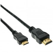 InLine Cavo HDMI High Speed, FullHD 1080p, UHD 2.160p, Type-A maschio/ Type-C Mini maschio, pin dorati, nero, 0,5m
