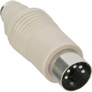 InLine Adattatore PS/2 femmina a Din 5pin maschio per collegare una tastiera PS/2 a un PC AT/XT