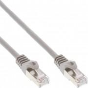 InLine Cavo Patch LAN, SF/UTP, Cat.5e, guaina PVC, CU (100% rame), grigio, 25m