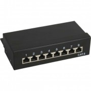 InLine Patch Panel Cat.6, 8-porte, Desktop, nero, RAL9005