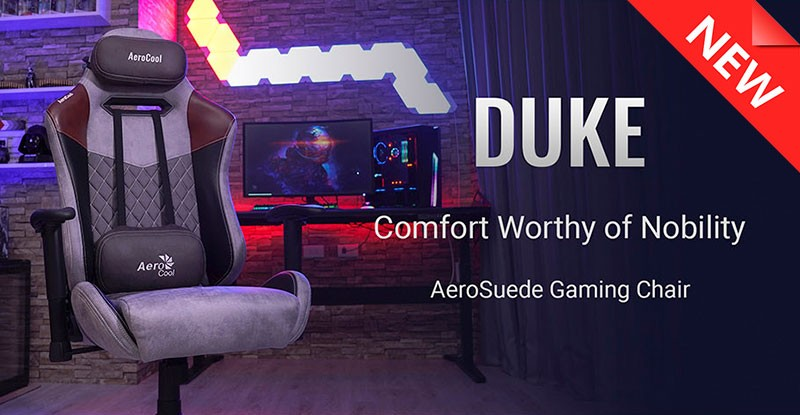 Aerocool Duke Nobility Series Aerosuede Premium Gaming Chair
